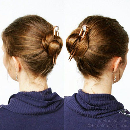 Simple Hair Style, Short Easy Buns Hairtyles