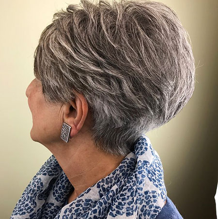 Grey Hair Short Pixie, Pixie Blonde Short Undercut