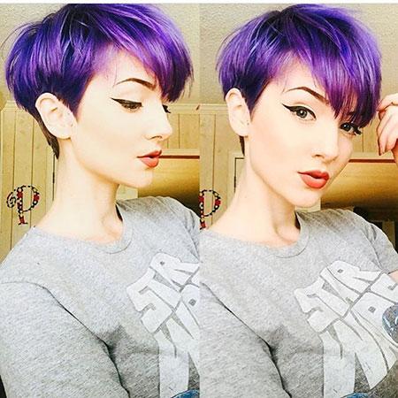 Pixie Hair Color, Pixie Hair Purple Short