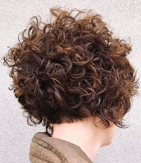 Messy Curls Short Bob, Curly Wavy Bob Short