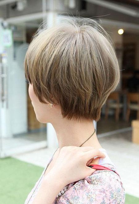 Gestapeltes kurzes Haar, Bob, geschichtet, zurück, kurz