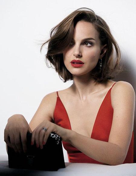 Natalie Portman - Kurzes Bob-Haar, Bob Easy Cute Women