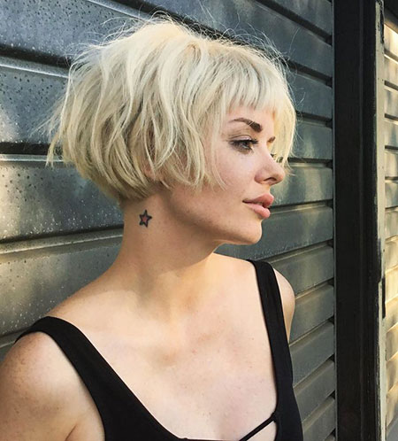 Blonde Messy Hair for Girls, Blonde Pixie Bob Short