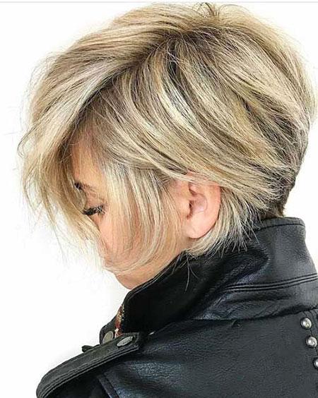 Blonde Modern Short Hair, Blonde Bob Layered Pixie
