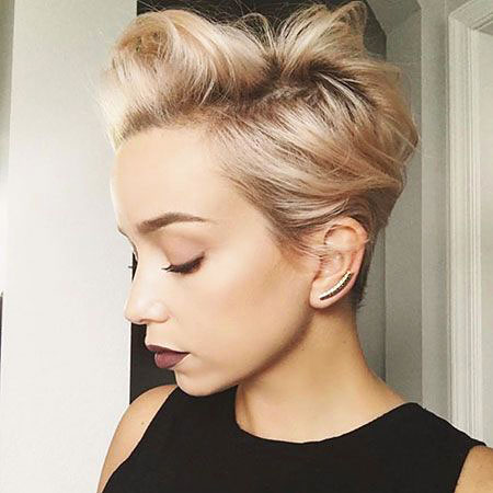 Blonde Cute Pixie Cut, Pixie Hair Short Hairtyles