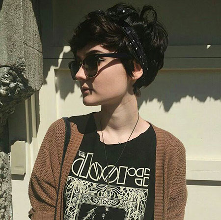 Thick Short Pixie, Pixie Dark Fashion Hair