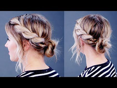 20 easy buns for short hair  short hairstyles  haircuts