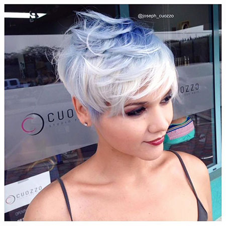 Pixie Undercut Uneven Purple