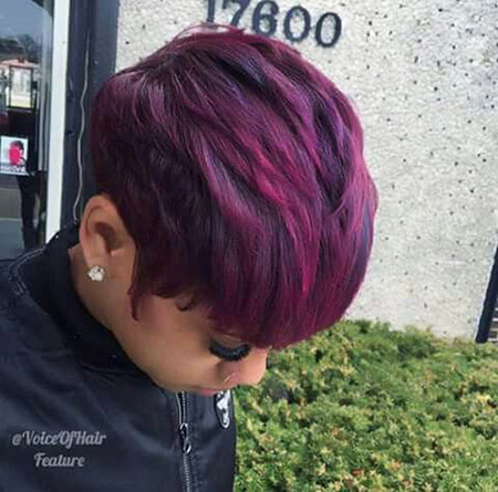 Hair Purple Haircuts Choppy
