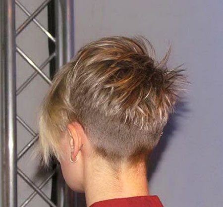 Pixie Blonde Back View