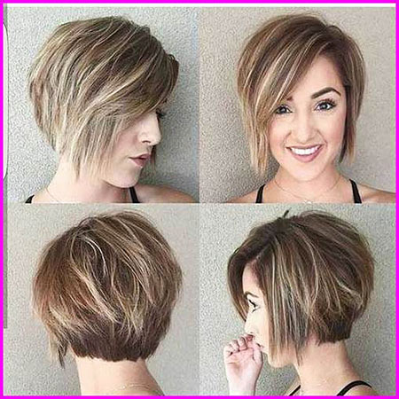 Layered Short Hair Bob