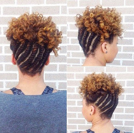 Hair Updo Curly Braided