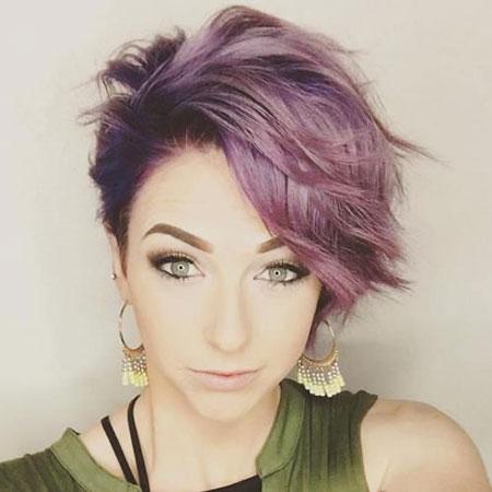 Purple Hair Pixie Short
