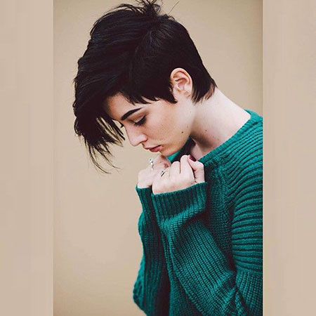 Hair Pixie Dark Short