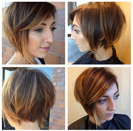 Layered punk hairstyles for women