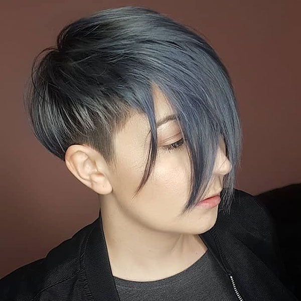 Pixie Cut With Long Bangs