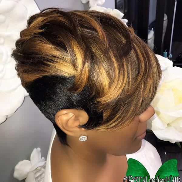 Pixie-Frisuren für schwarze Frauen