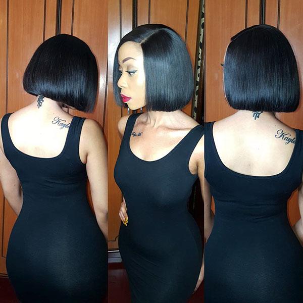 Kurze Bob-Frisuren für schwarze Frauen