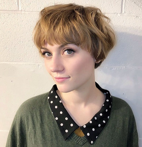 Short Bob With Short Bangs