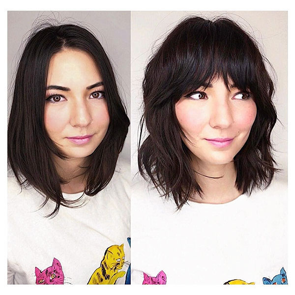 Short Hair With Bangs And Layers