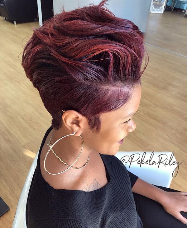 Kurze Frisuren für schwarze Frauen 2019