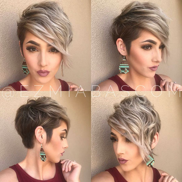 Short Hair With Side Bangs