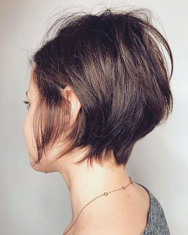 Short Layered Hair From The Back