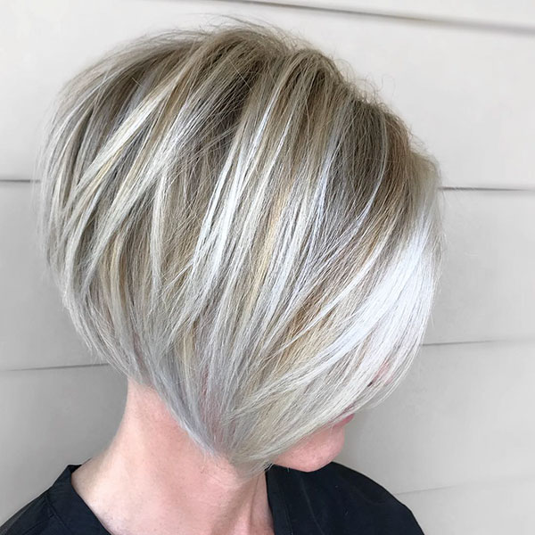 Layered Straight Short Hair