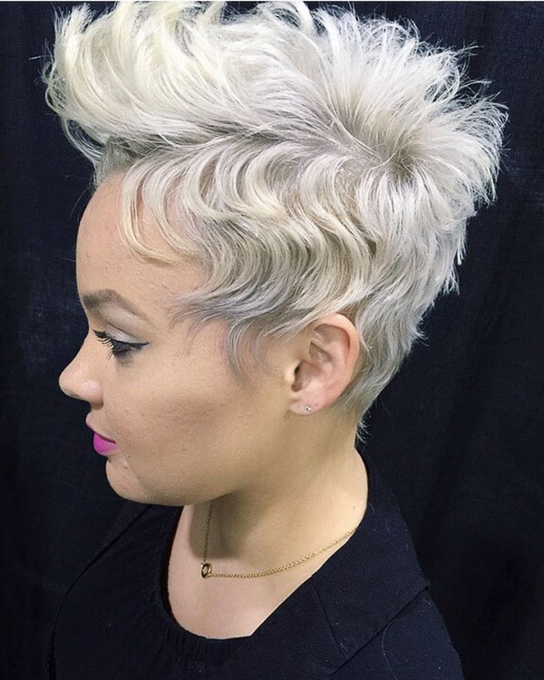 Blonde Pixie For Black Women