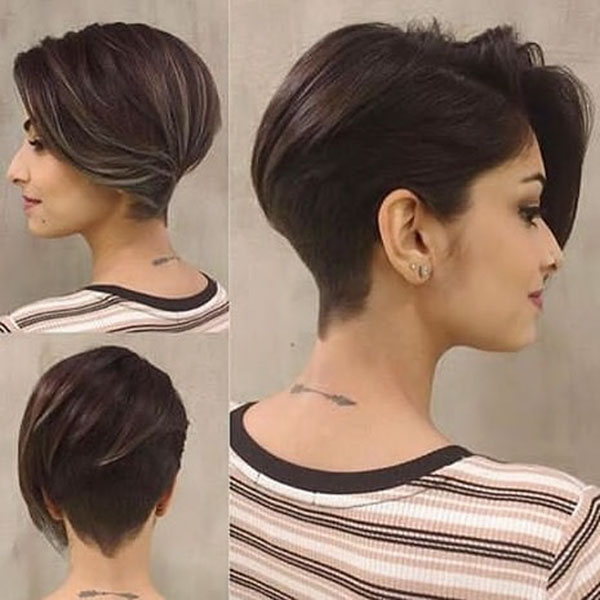 Dark Brown Pixie Cut