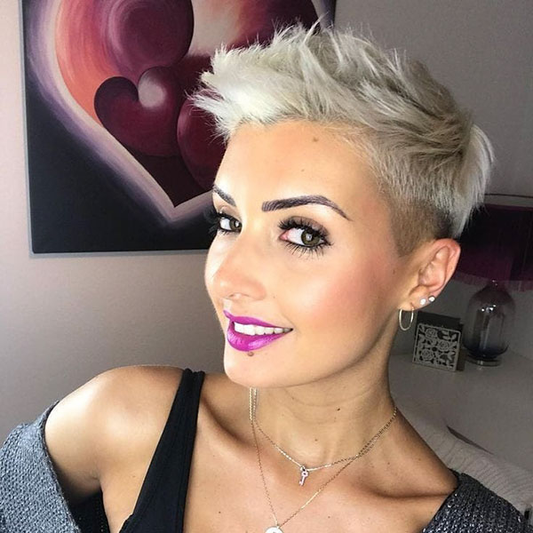 Platinum Blonde Pixie Haircuts