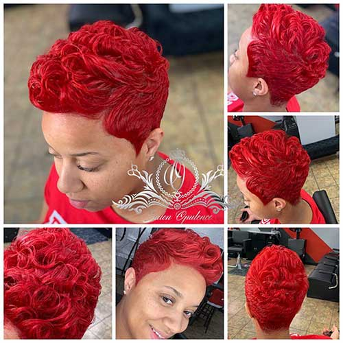 Cute Red Pixie Cuts For Black Women