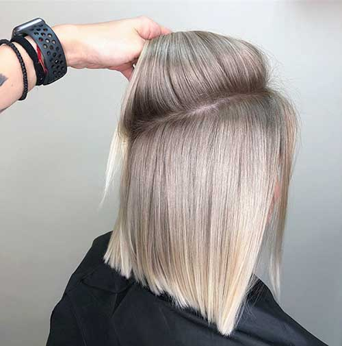 Short Ashy Blonde Ombre