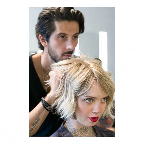Short Bob Blonde Hair Cut