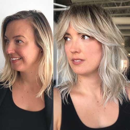 Ash Blonde Balayage Short Hair 2019