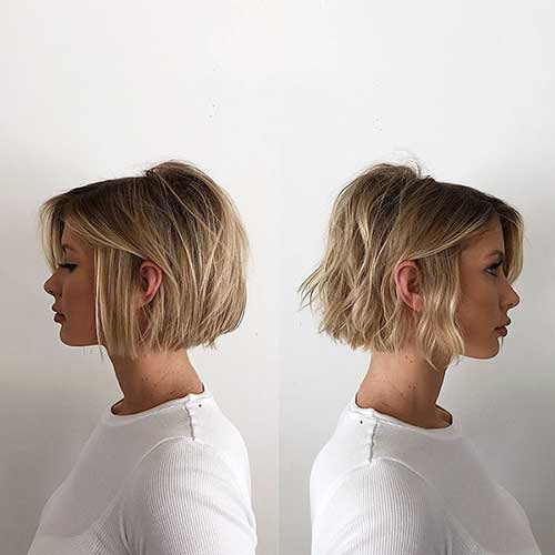 Short Dirty Blonde Hairstyle