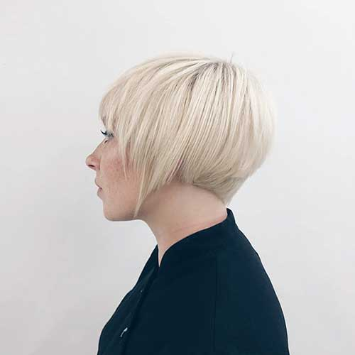 Platinum Blonde Short Cut Hair