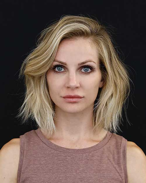 Short Blonde Choppy Bob Hairstyles