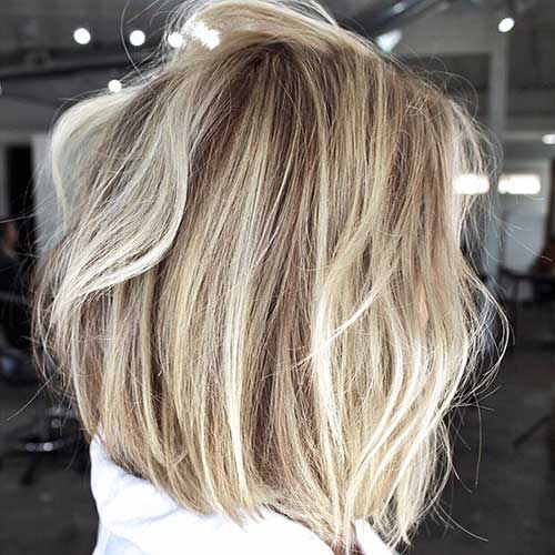 Blonde Balayage Short Hair Cut