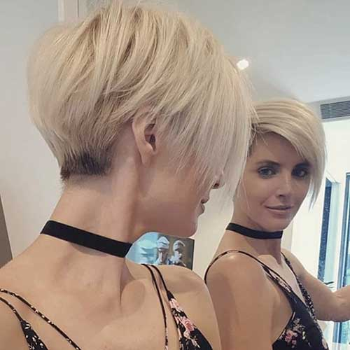 Blonde Pixie Bob Cuts