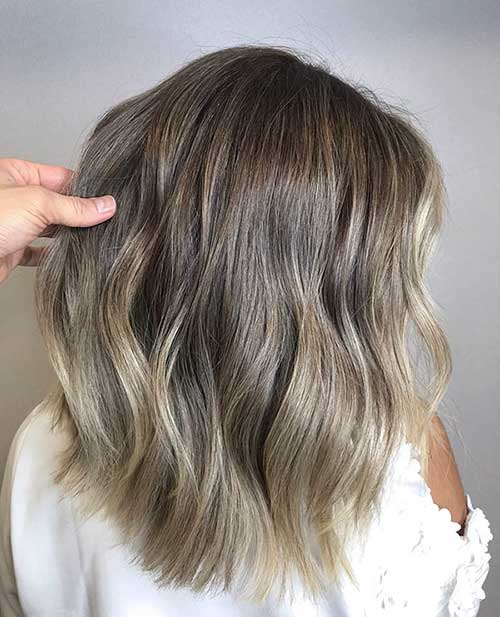 Ash Blonde Long Bob Styles