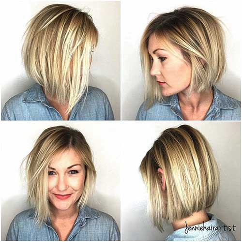 Short Bob Blonde Hairstyle