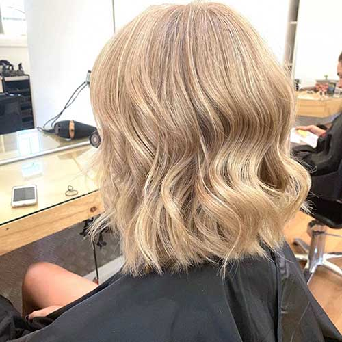 Girl With Short Blonde Hairstyle