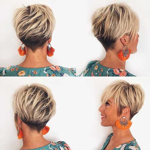 Long Blonde Pixie Cuts