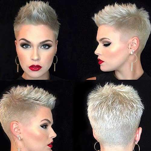 Ash Blonde Short Hair Style