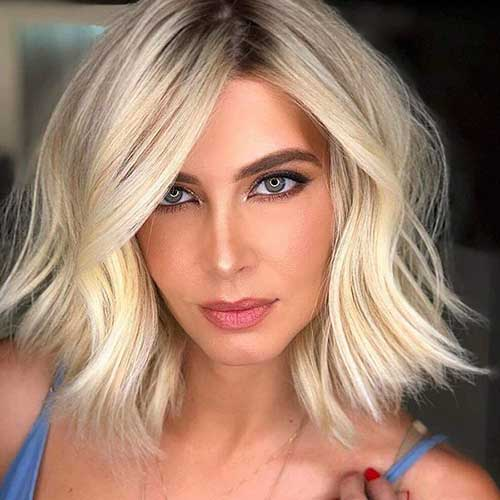 Long Bob Blonde Hairstyles