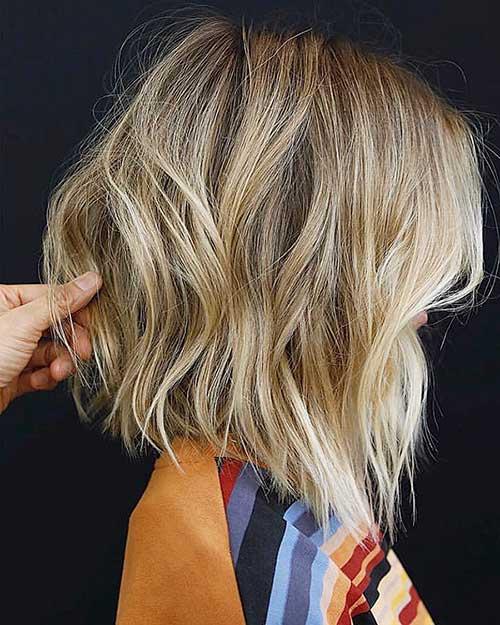 Blonde Balayage Short Hair Style