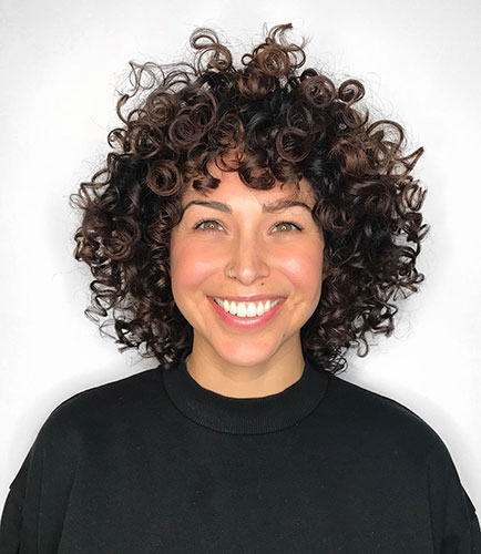 Short Natural Curly Hair With Bangs