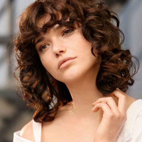 30 Gorgeous Short Hairstyles For Curly Hair With Bangs