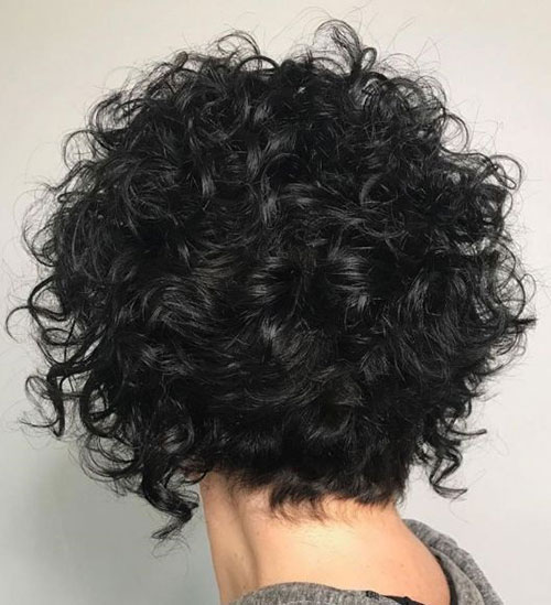 Short Frizzy Curly Haircuts 2019-19